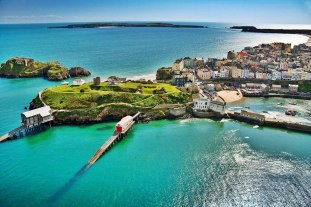 Tenby (featuring Castle Hill & lifeboat stations) Aerial Pembrokeshire South Towns & Villages